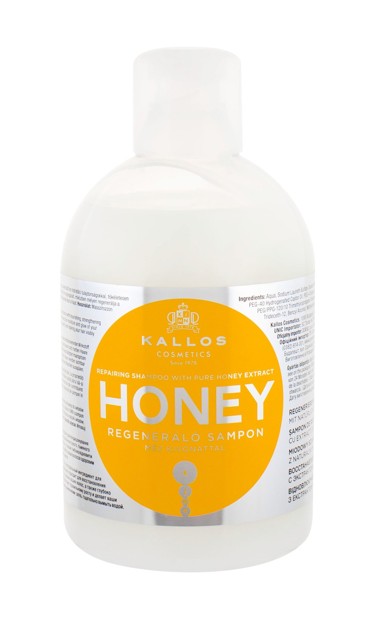 Kallos Cosmetics Honey Shampoo 1000ml