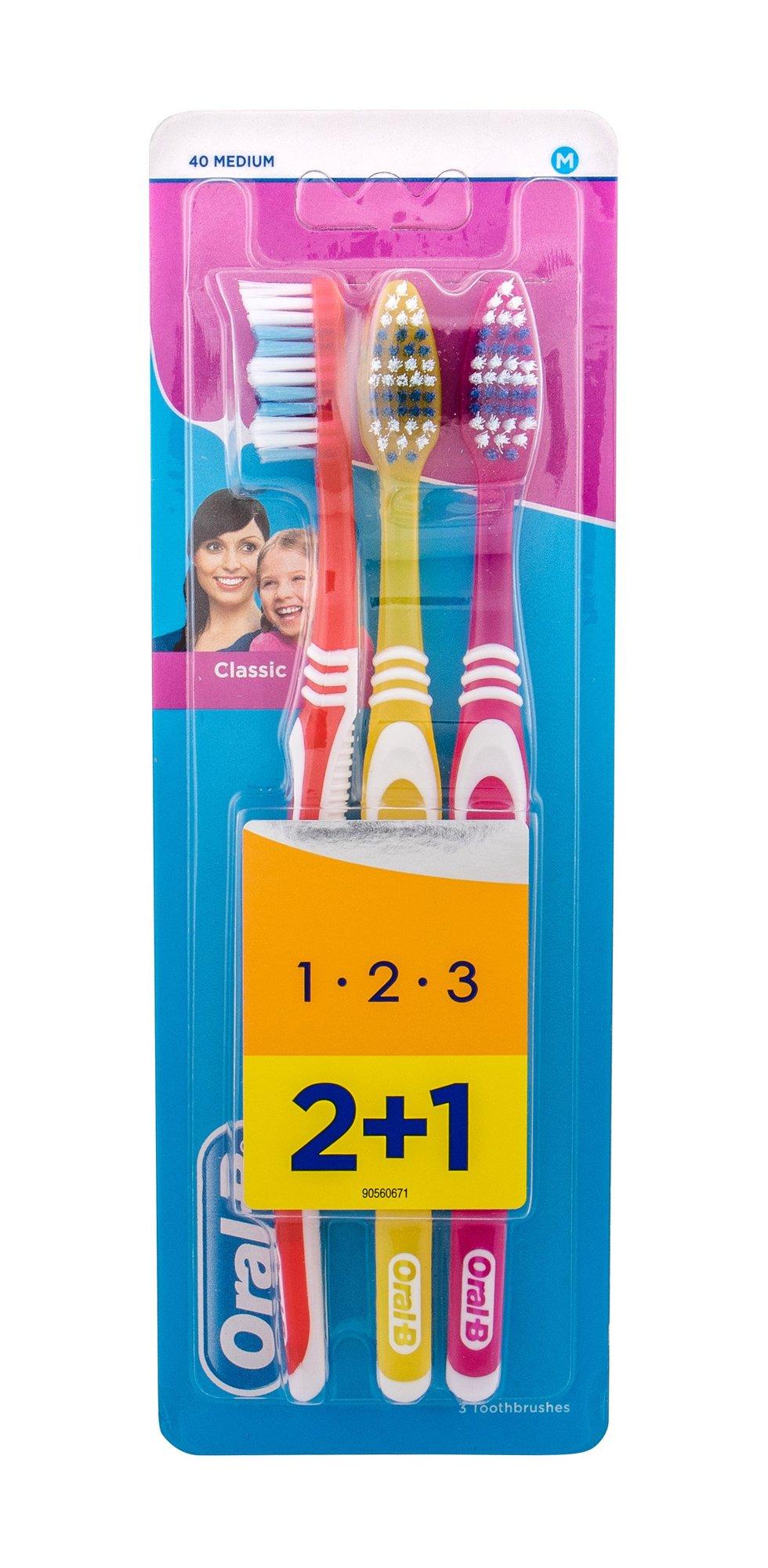 Oral-B Toothbrush Toothbrush 3ml Red, Yellow, Pink