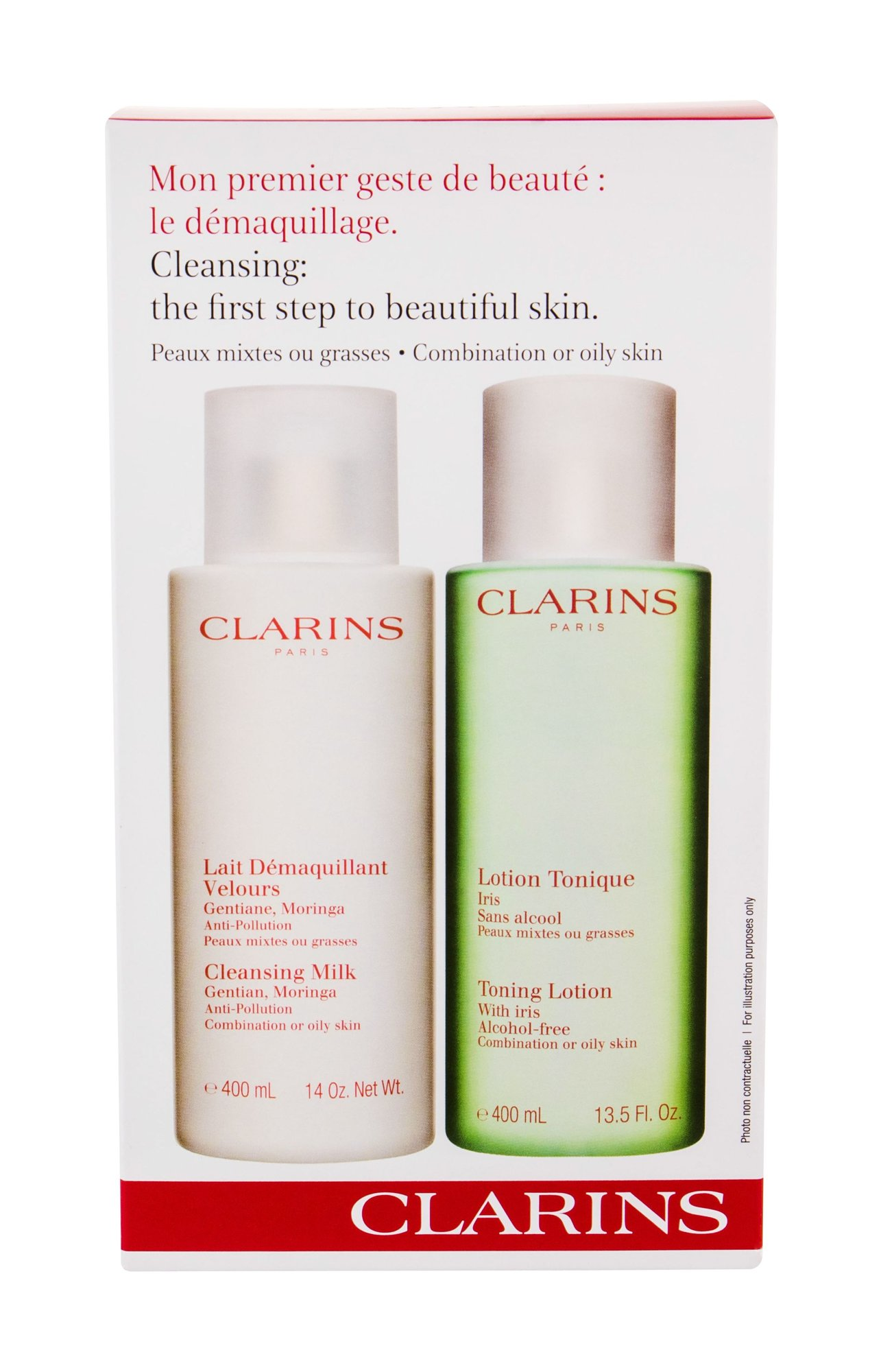 Clarins Cleansing Milk With Gentian Cleansing Milk 400ml
