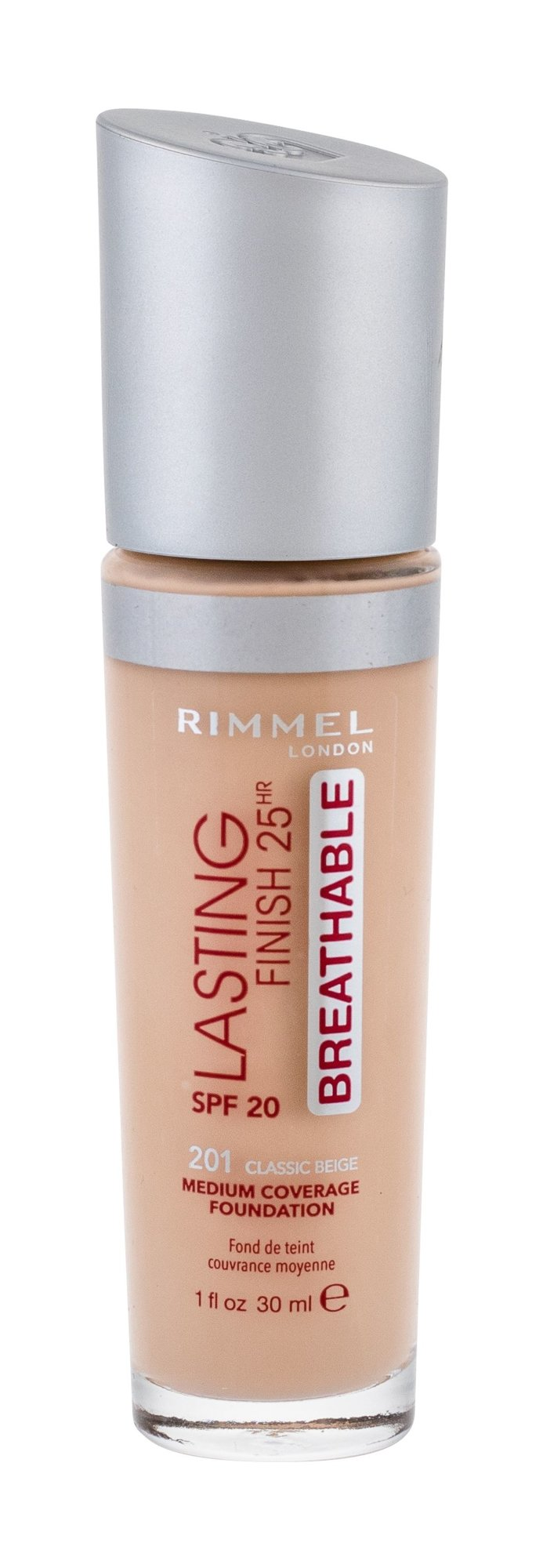 Rimmel London Lasting Finish Makeup 30ml 201 Classic Beige