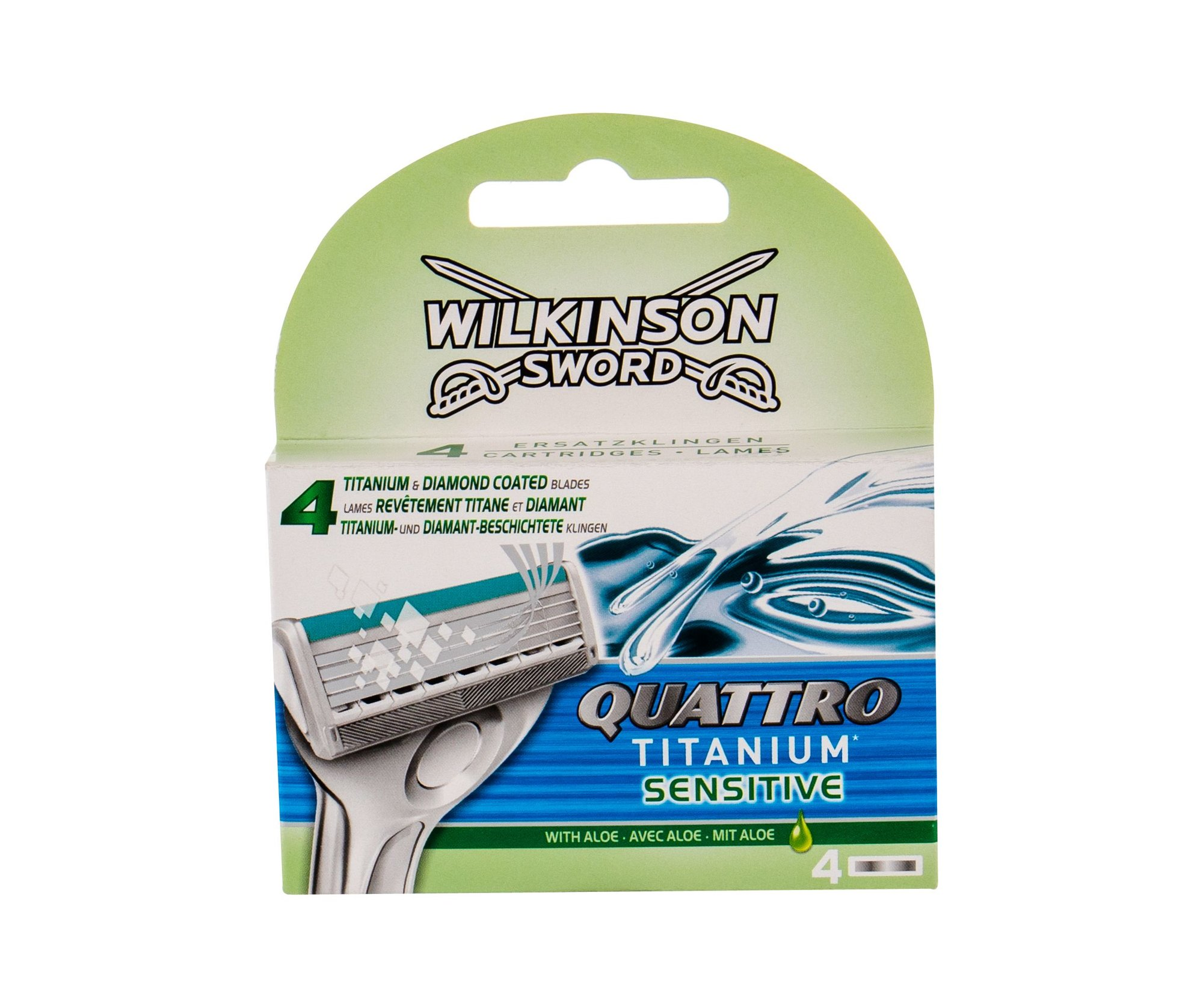 Wilkinson Sword Quattro Replacement blade 4ml  Titanium Sensitive
