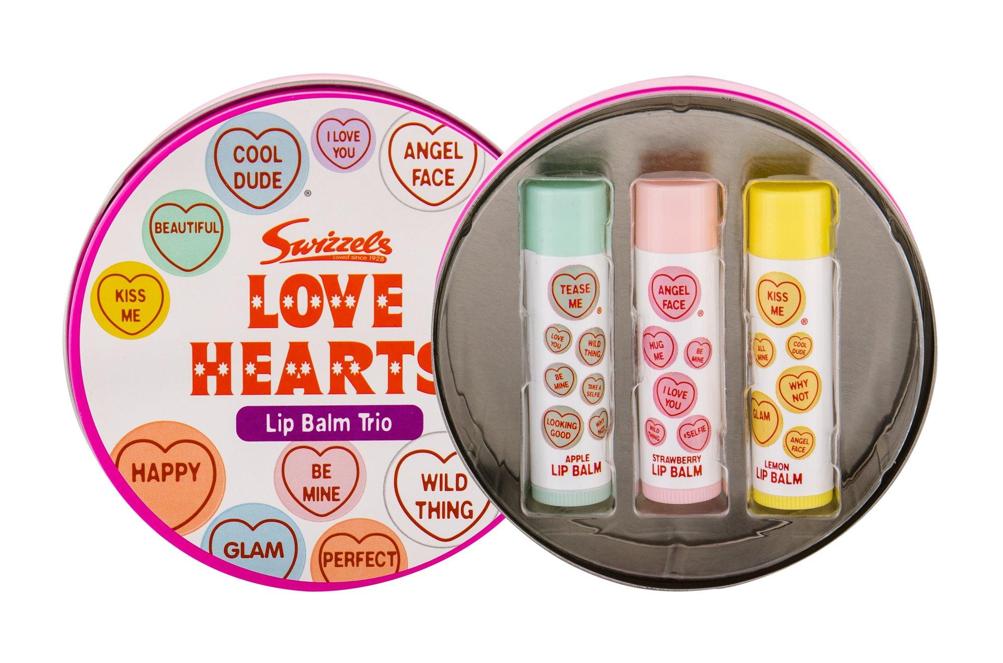 Swizzels Lip Balm Trio Lip Balm 4ml  Love Hearts