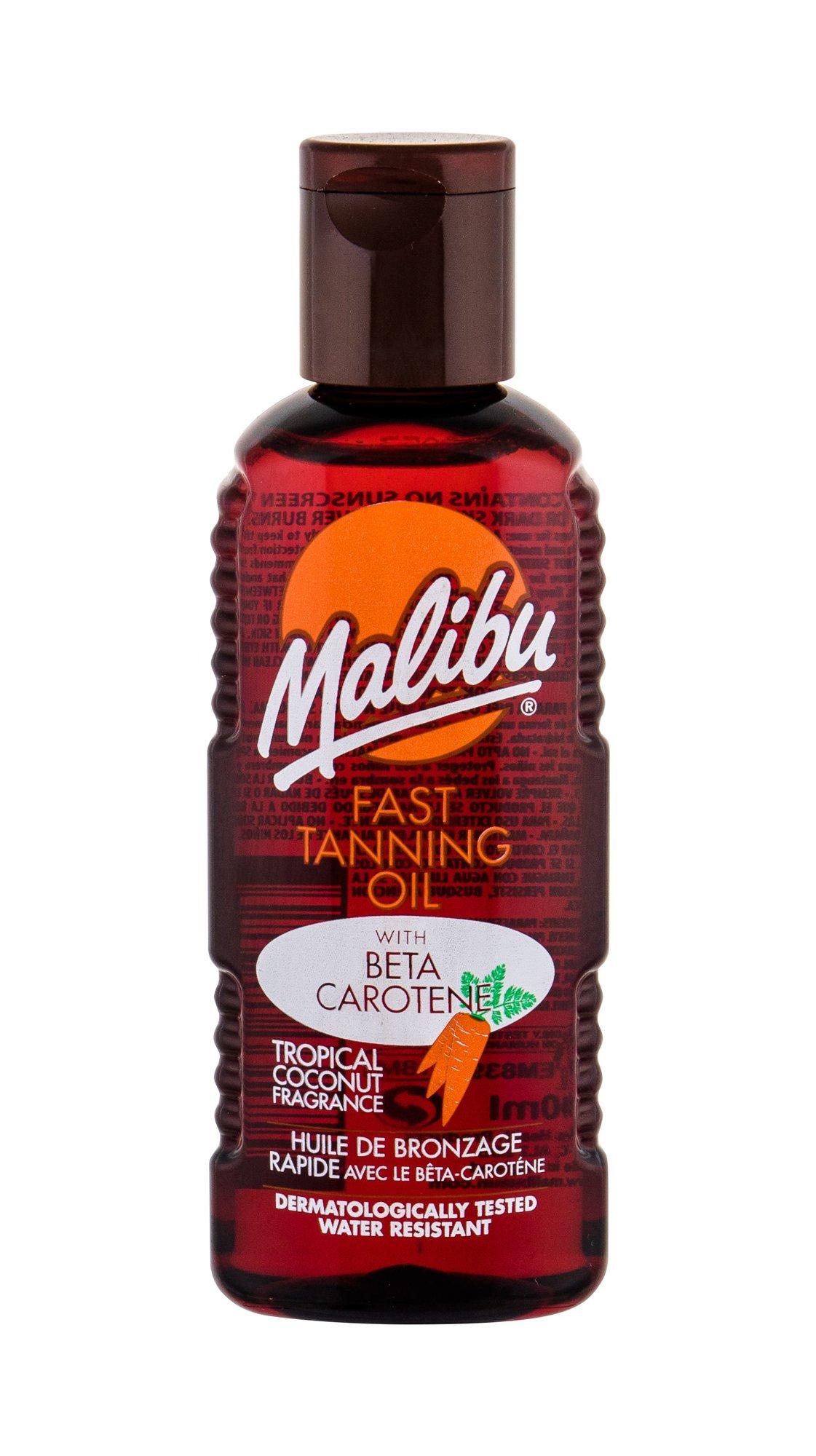 Malibu Fast Tanning Oil Sun Body Lotion 100ml