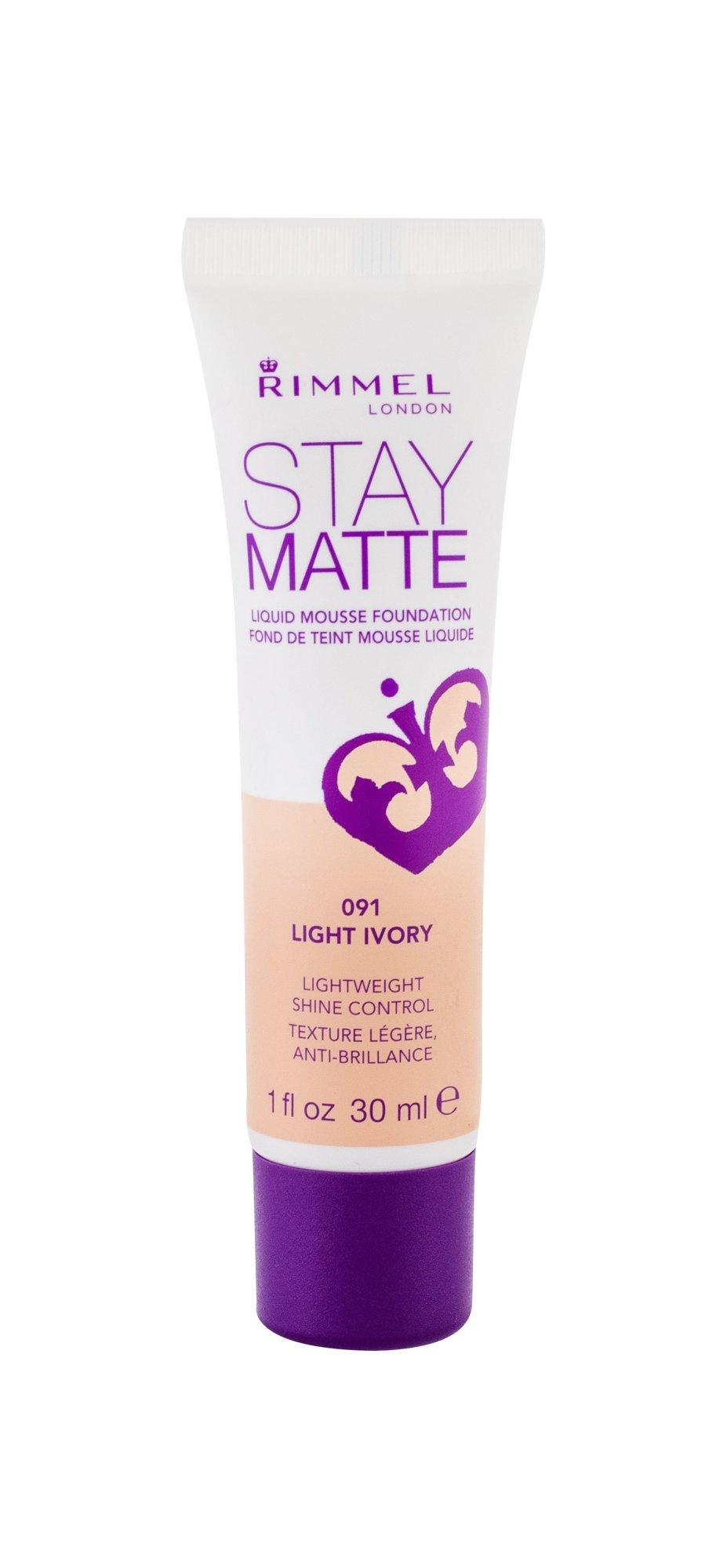 Rimmel London Stay Matte Makeup 30ml 091 Light Ivory