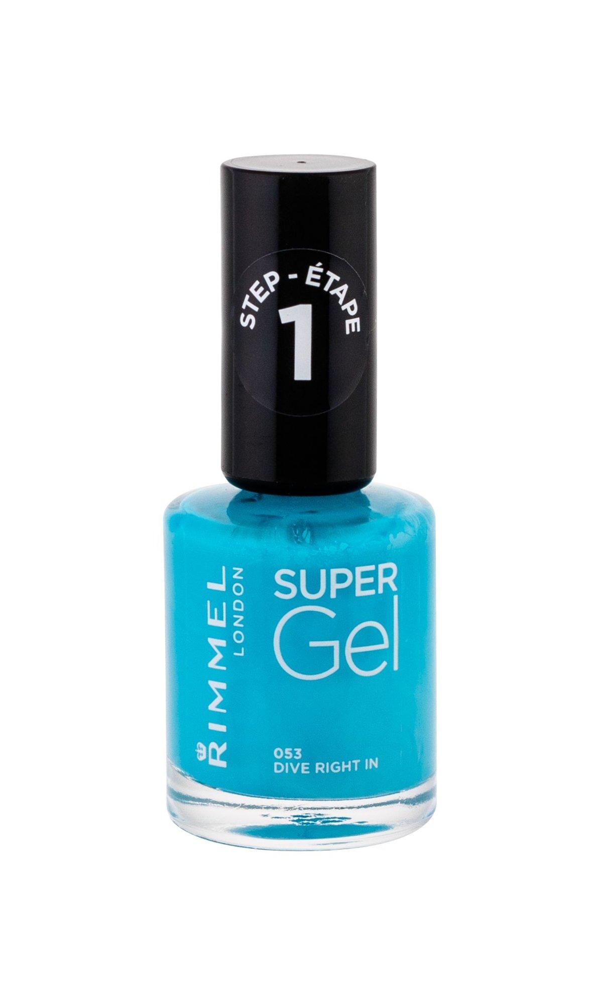 Rimmel London Super Gel Nail Polish 12ml 053 Dive Right In