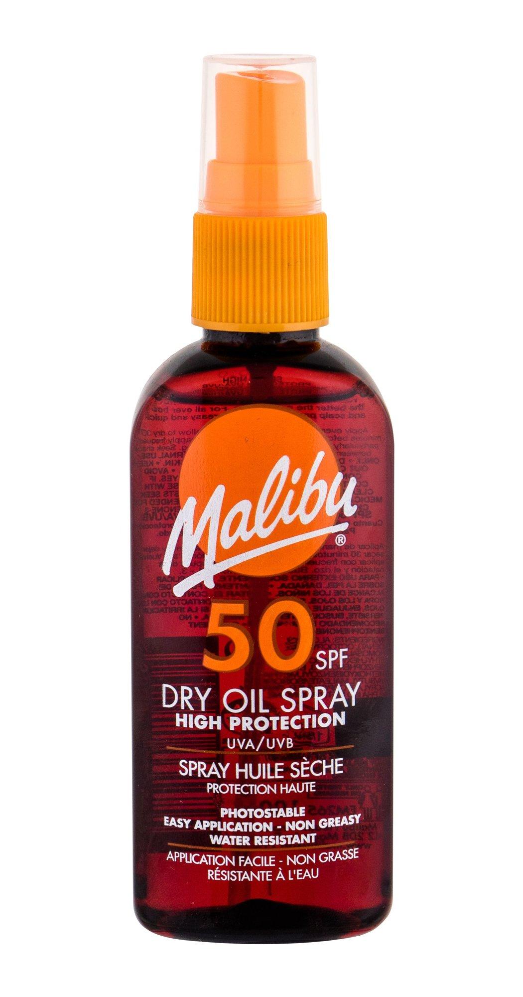 Malibu Dry Oil Spray Sun Body Lotion 100ml