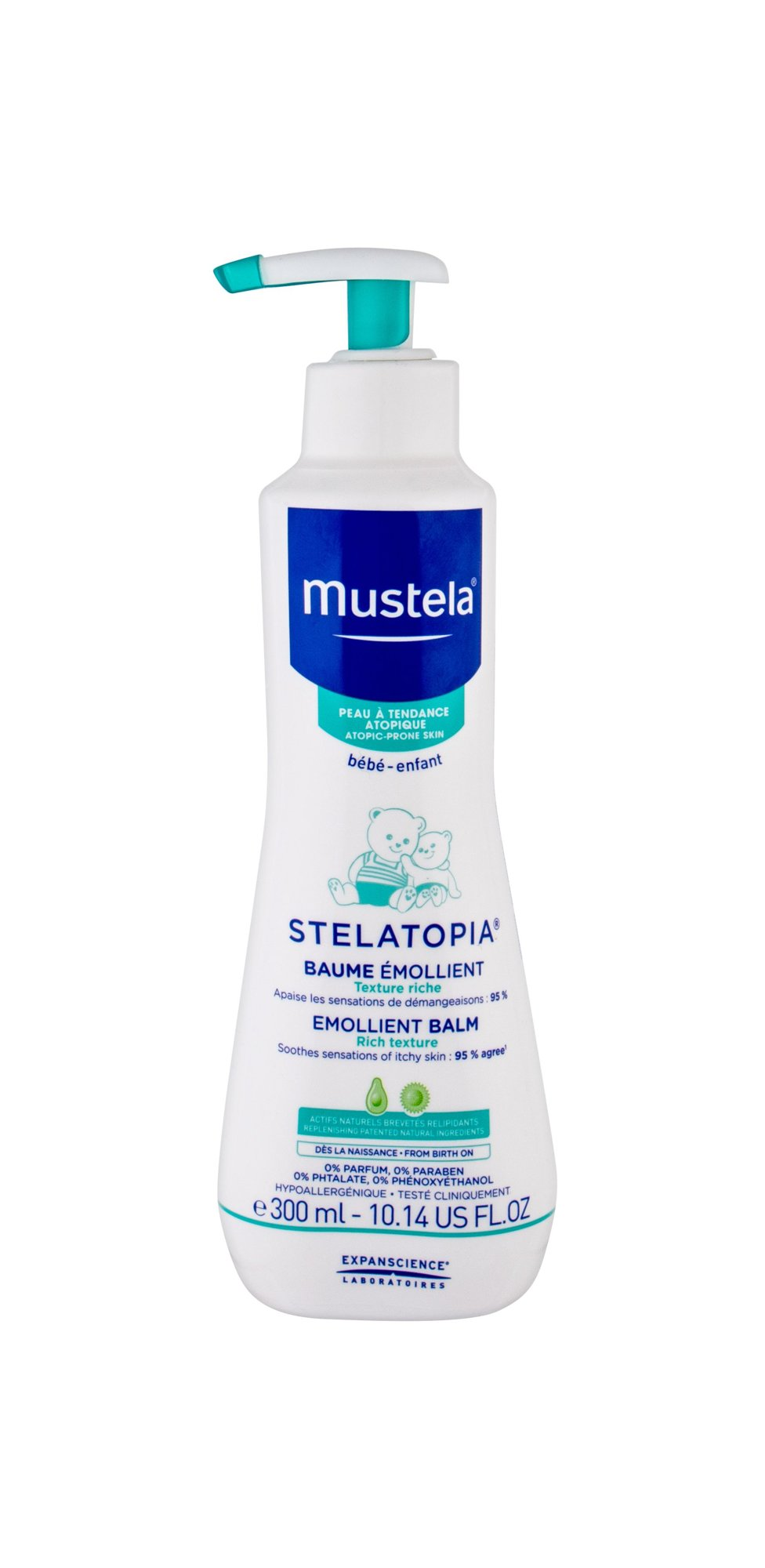 Mustela Bébé Stelatopia Day Cream 300ml  Emollient Balm