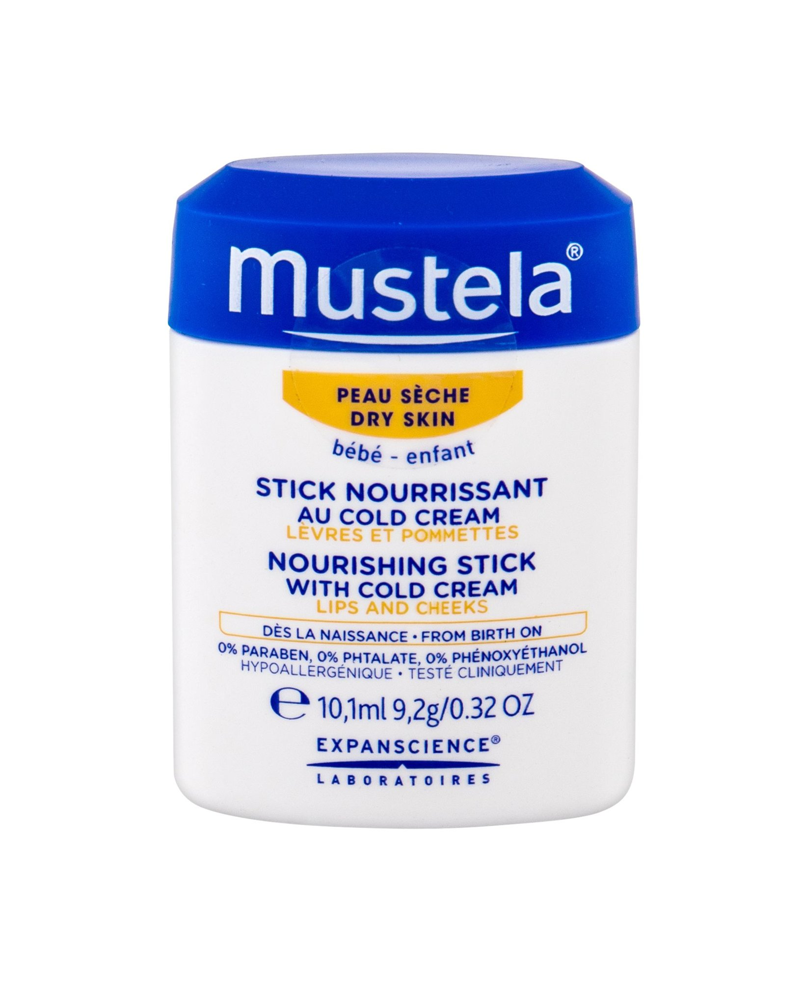 Mustela Bébé Day Cream 10,1ml  Nourishing Stick With Cold Cream