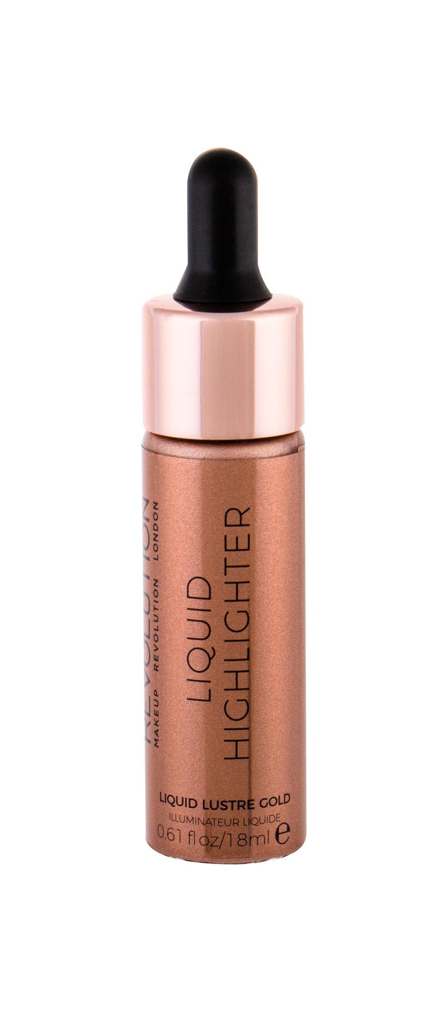 Makeup Revolution London Liquid Highlighter Brightener 18ml Lustre Gold