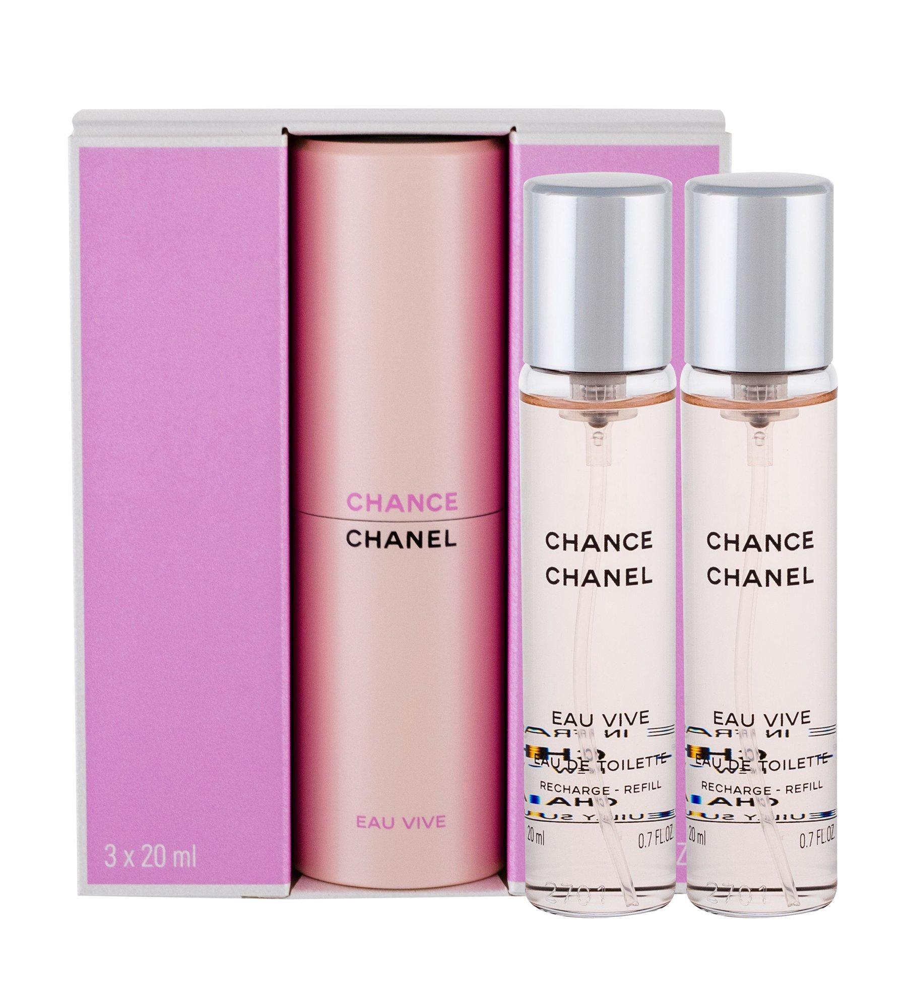 Chanel Chance Eau de Toilette 3x20ml