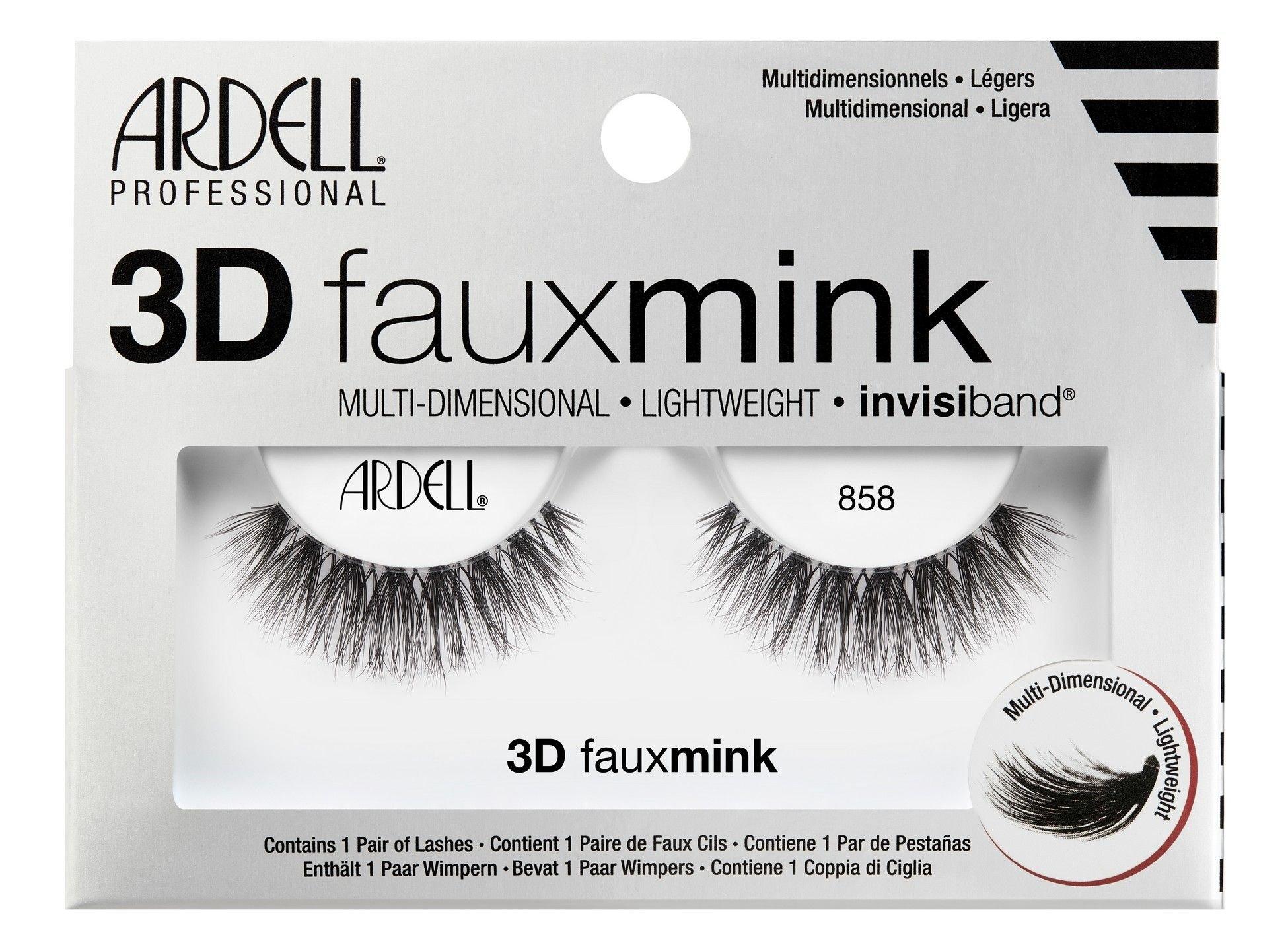 Ardell 3D Faux Mink False Eyelashes 1ml Black