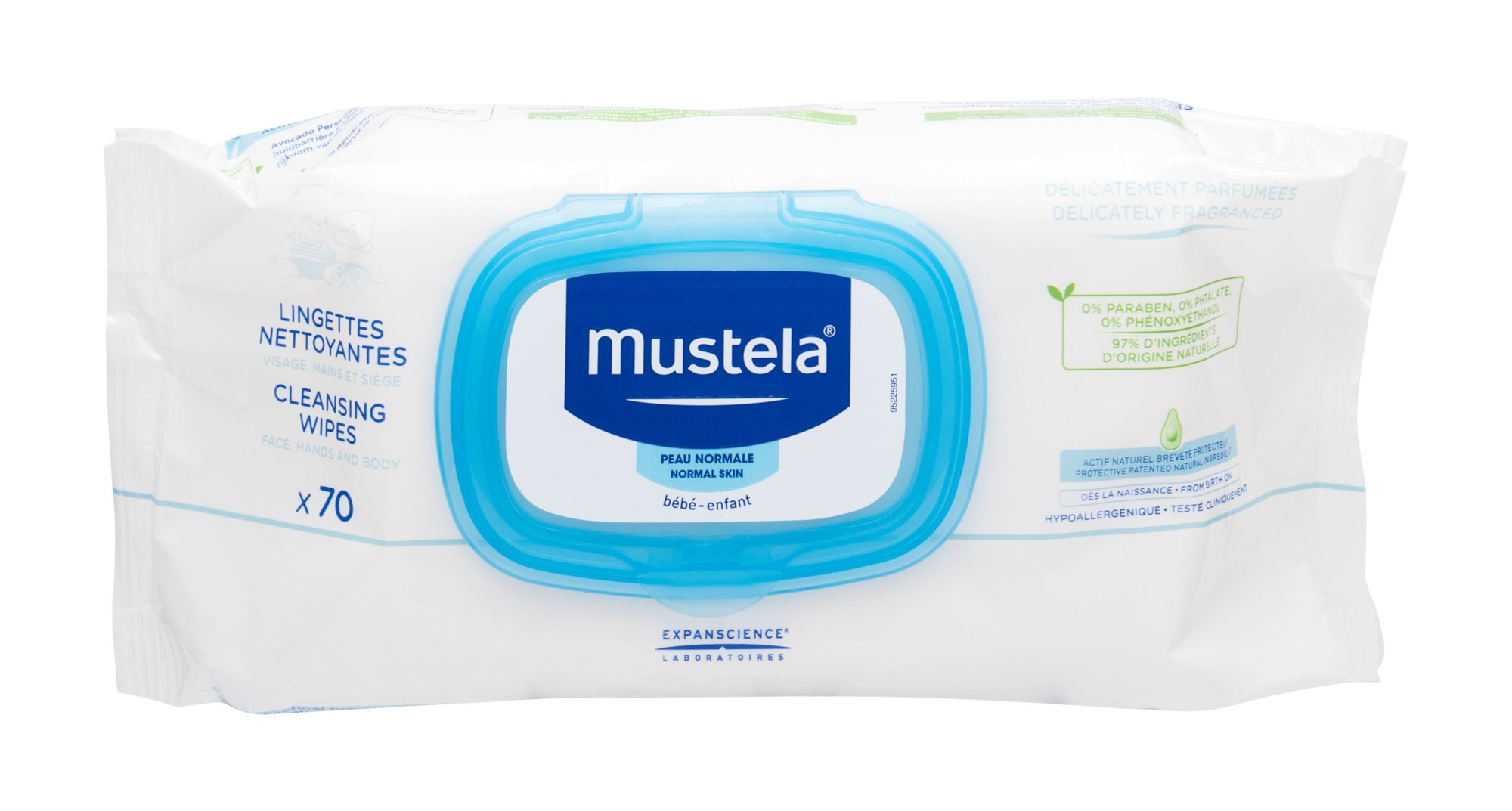 Mustela Bébé Cleansing Wipes 70ml