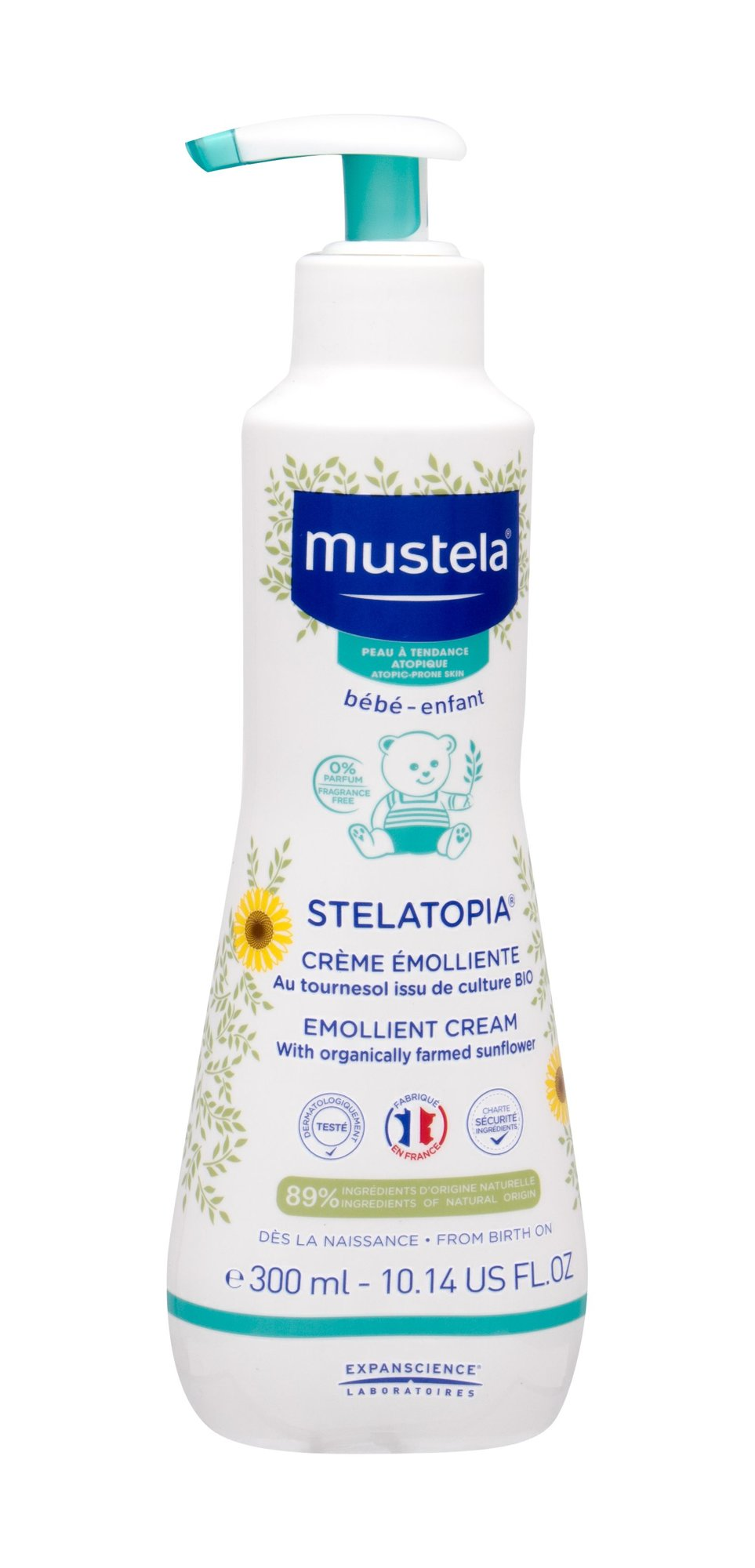 Mustela Bébé Stelatopia Body Cream 300ml  Emollient Cream